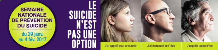 Semaine nationale de prévention du suicide